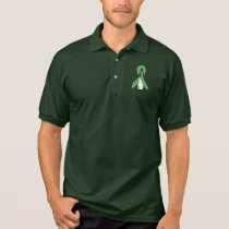Green Awareness Ribbon with Lighthouse of Hope Polo Shirt