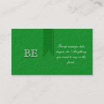 Green Awareness Support Ribbon Business Cards