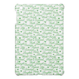Green Awareness Words iPad Case