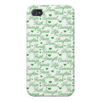 Green Awareness Words iPhone 4/4S Case
