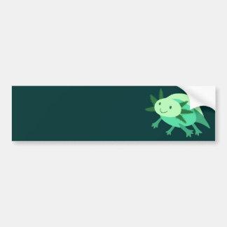 Green Axolotl Bumper Sticker