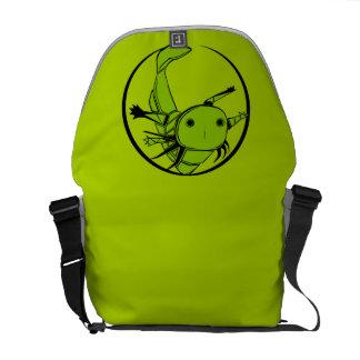 green axolotl circle bag messenger bag