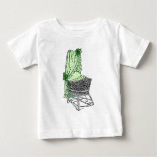 Green Baby Bassinet Baby T-Shirt