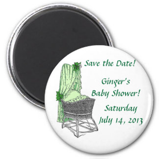 Green Baby Bassinet Magnet