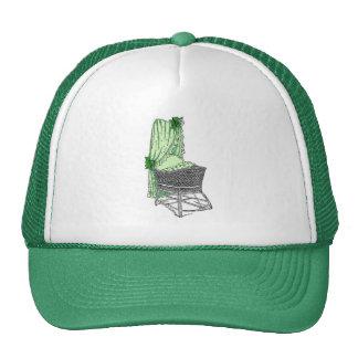 Green Baby Bassinet Trucker Hat