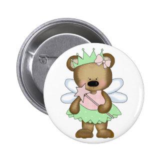 Green Baby Bear Fairy Pin
