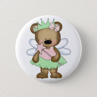 Green Baby Bear Fairy Pinback Button