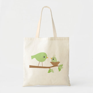 Green Baby Bird Tote Bag