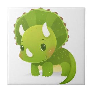 green baby cute dinosaur cartoon ceramic tile