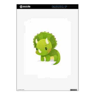 green baby cute dinosaur cartoon decal for iPad 2