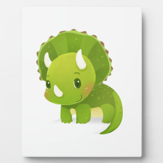 green baby cute dinosaur cartoon plaque