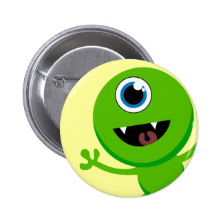 Green Baby Cyclops Button