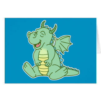 Green Baby Dragon Card