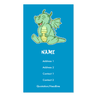 Green Baby Dragon Play Date/Business Card Double-Sided Standard Business Cards (Pack Of 100)