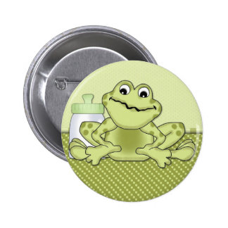 Green Baby Frog Buttons