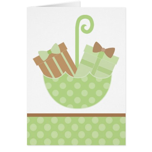 Green Baby Gifts Uk : Green baby gifts in umbrella card zazzle