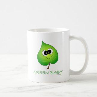 Green Baby Leaf Classic White Coffee Mug