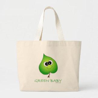 Green Baby Leaf Jumbo Tote Bag