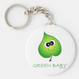 Green Baby Leaf Keychains
