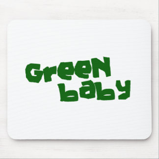 Green baby mouse pad
