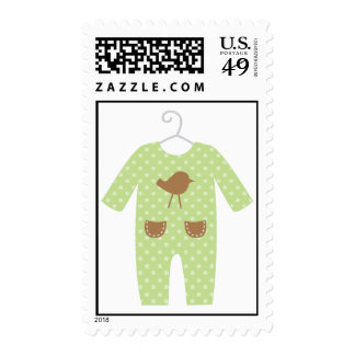 Green Baby Outfit Baby Shower Stamps