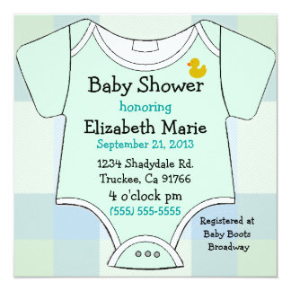 Green Baby Outfit-Shower Card