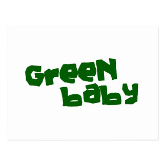 Green baby postcard