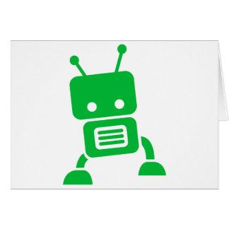 Green Baby Robot Card