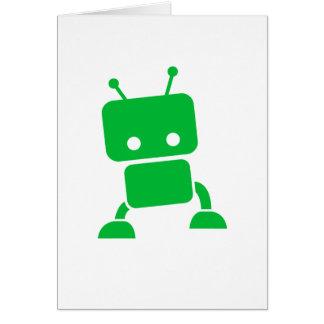 Green Baby Robot Greeting Card