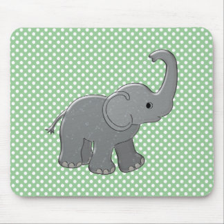 green baby shower elephant mouse pad