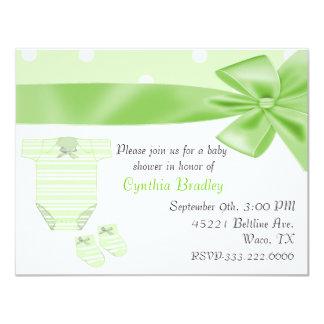 Green Baby shower invitation