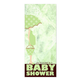 Green Baby Shower Invitations