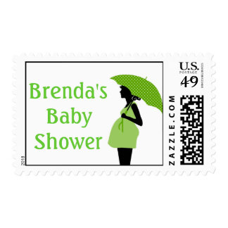 Green Baby Shower Postage Stamps