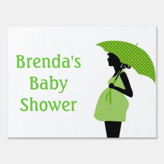 Green Baby Shower Yard Sign