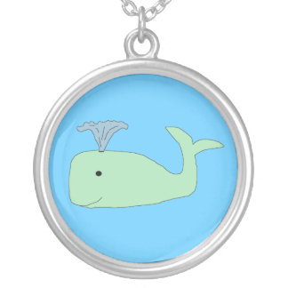 Green Baby Whale necklace