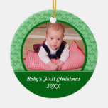 Green Baby's First Christmas Ornament