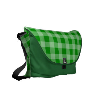 Green Background Courier Bag