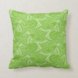 green background fish pattern | pillow