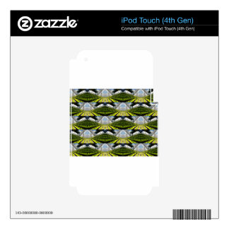 Green background iPod touch 4G decal