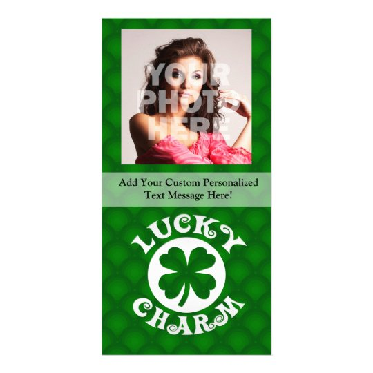 Green Background Lucky Charm Card