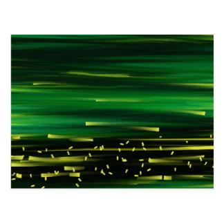Green background postcard