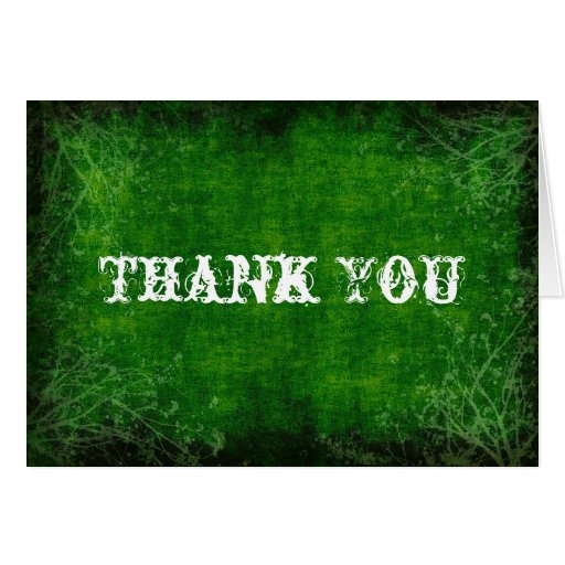 Green Background Thank You Card | Zazzle