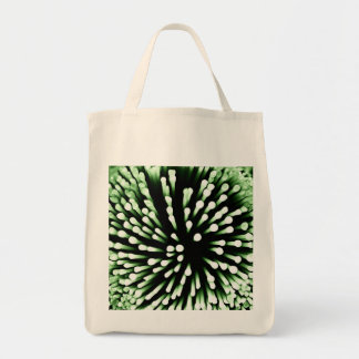 Green Bacteria Magnified Tote Bag