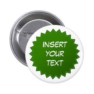Green badge button
