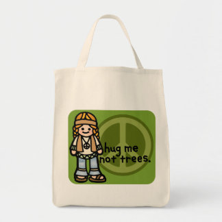 green bag for groceries.