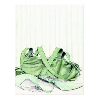 Green Bag & Shoes Postcard