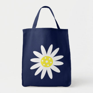 Green bag with white cartoon flower