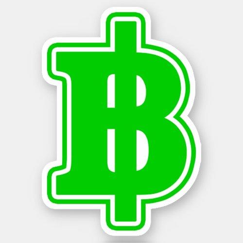 GREEN BAHT SIGN à Thai Money Currency à Sticker