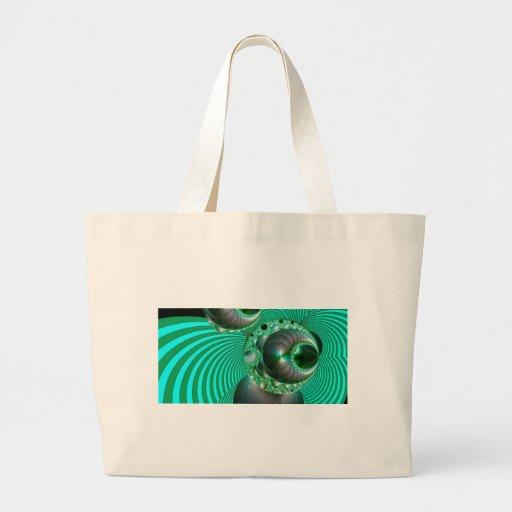 GREEN BALL ABSTRACT MANDELBOT BAG