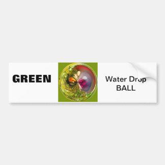 green ball bumper sticker